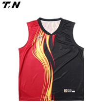 fashionable black and red basketball jersey uniforms with high quality