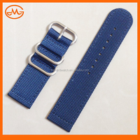 High Quality All Size Navy Blue Zulu Two-piece Nylon Watch Strap Band