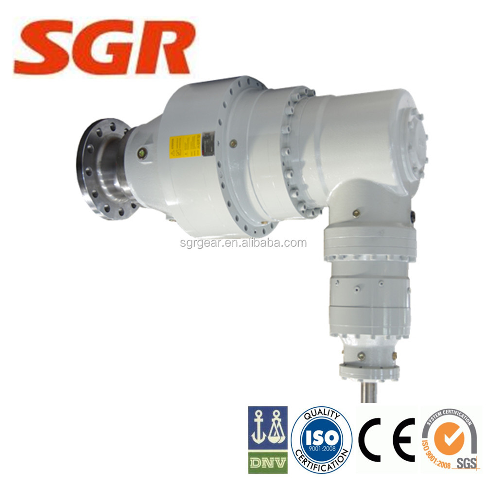 hight torque right-angle hydraulic planetary gearbox