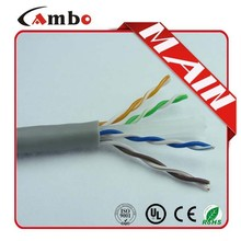 Made In China PVC/ROHS UL list CMP/CMR/CM 23AWG 305M Bulk UTP Cat6 Network Cable lan panel