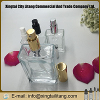 Mini glass bottle square perfume vial empty small massage oil bottle