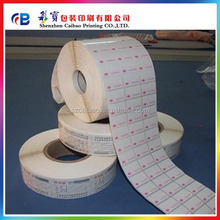 custom roll form full color printing waterproof plastic sticker label