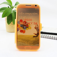 New 2013 TPU material can be transparent flip cover cell phone case for samsung galaxy s4 i9500