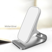 10W New Arrival 2 Coils Fast Qi Wireless Mobile Phone Charger Stand Dock Universal Charger Wireless