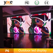 Outdoor LED panel p6 stage signs smd3535 high resolution waterproof portable rental display screen