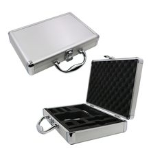 Professional hard small tattoo machine aluminum case with foam padding