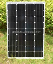 100W Monocrystalline photovoltaic solar panels Price Per watt solar panels for home