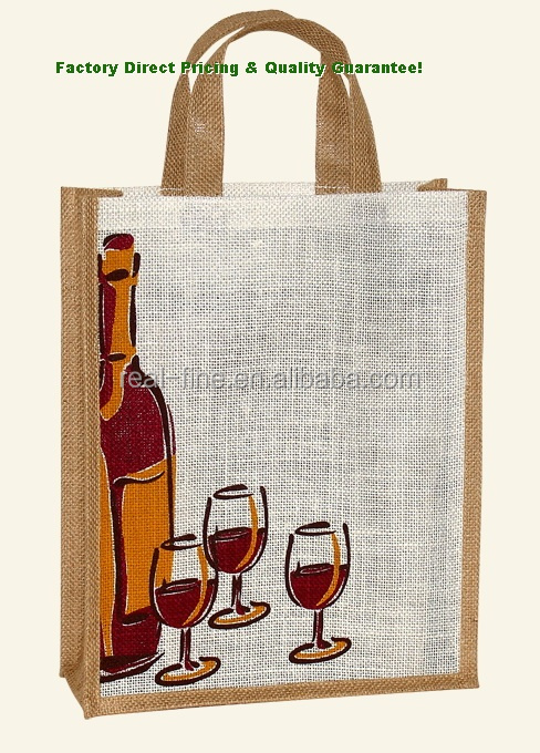 China Printed Budget Promotional Wine Bags Shopping Bag