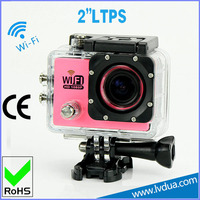 Wifi upgraded 2 INCH screen lcd colorful 170 wide angle action helmet video camera