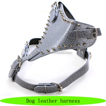 Luxury dog accessories, dog leather harness, vest of protection for dogs