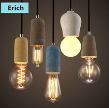 New Design Famous Turkish Concrete Unit Pendant Hanging Lamps with Bulbs for Coffee Shop