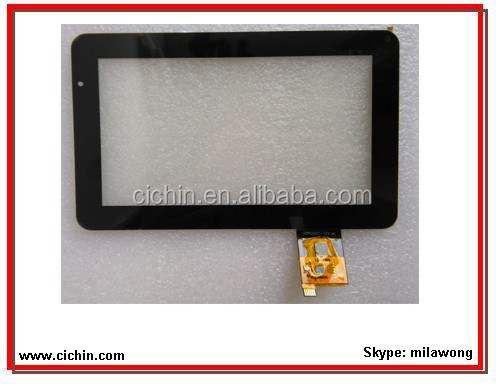 7 inch projected capacitive touch screen panel with I2C interface, tablet super touch screen