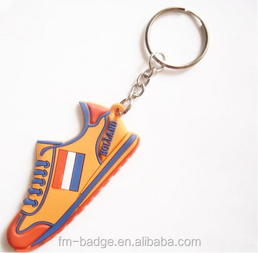 Custom 3D PVC sneaker keychains for promotional gifts, soft pvc/rubber basketball air max shoes keyring, running shoe key ring