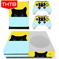 For Xbox One S Console Controllers Vinyl Cat Skin Cover Stickers