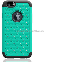 Bling bling PC+silicone diamond case for iPhone 6