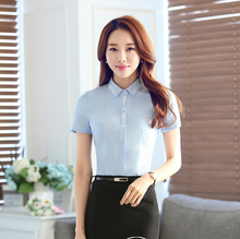 d47549a 2016 solid color ladies formal blouse women office blouse career women's wear
