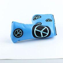Hot selling Durable Blue golf club head cover golf putter cover