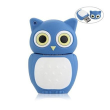 wholesale cheap bulk blue owl cartoon u disk flash memory
