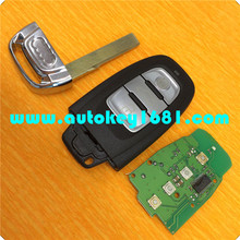 ms smart car key 3button remote key 315mhz for AUDI Q5 A4L key 754c smart card with uncut small key balde