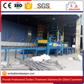 Discount Price Continous Roller Conveyor Shot Blasting Machine for scaffolding surface treatment