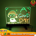 alibaba best seller led writing board, desktop led writing board