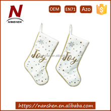 "2017 wholesale 19"" polyester knit christmas stockings"