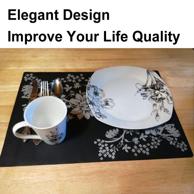 RENJIA silicone kids placemats silicone placemat with plates kids table placemat