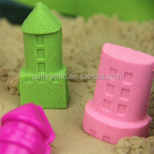 High quality colored sand with castle sand toys for kids