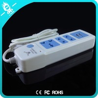 wholesale portable 2 grand outlet socket plug with 2 usb power strip