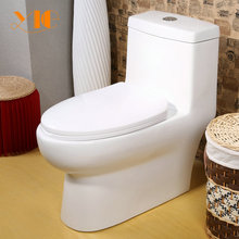 Classical design easy clean white ceramic room decoration one-piece toilet