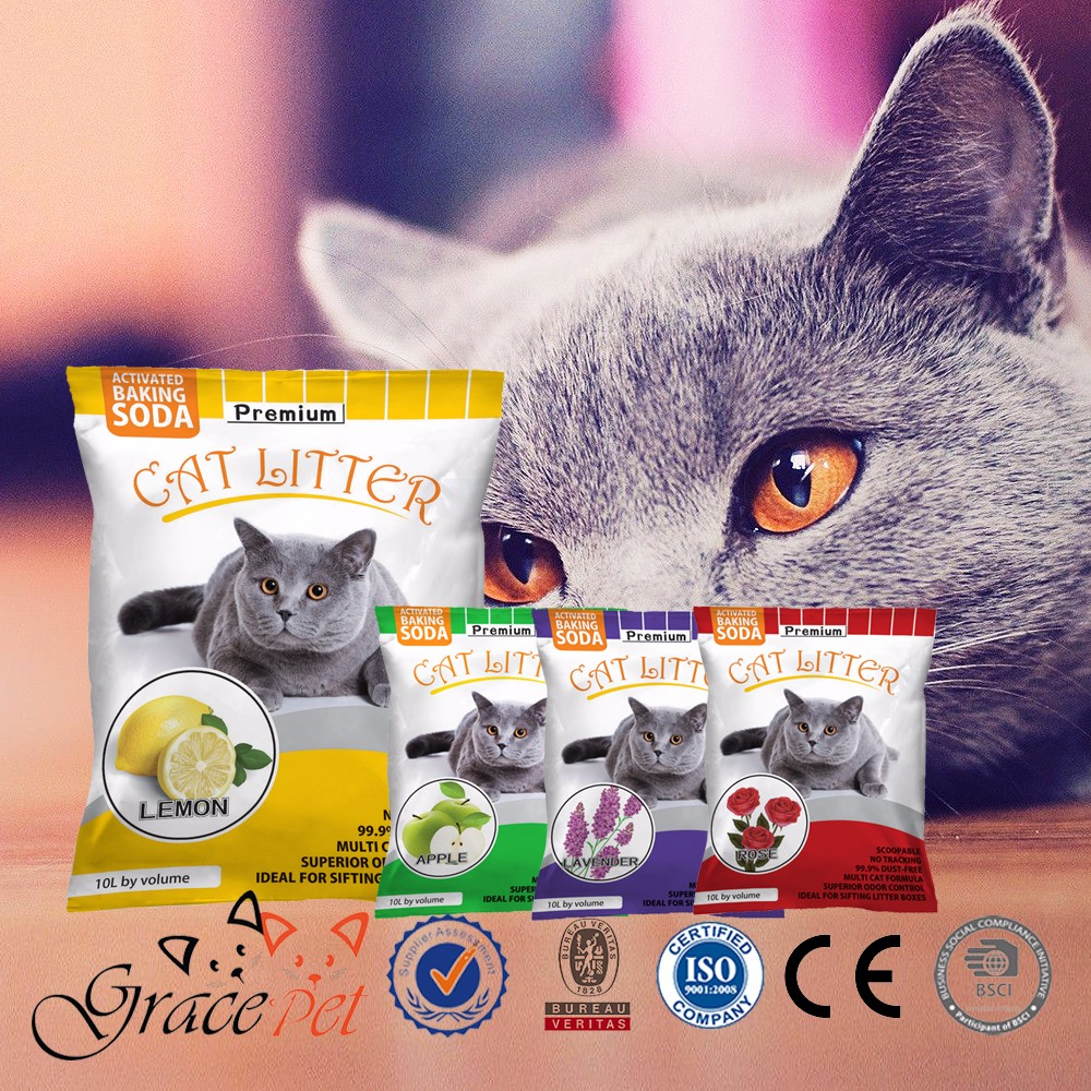 2017 Pet products cat litter sand