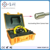 USB keyboard typewrite sewer drain chimney inspection camera with 29mm self levelling camera