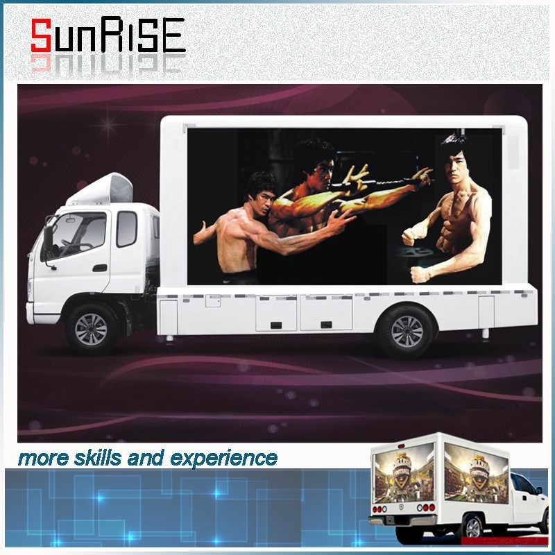 Top after-sale service advertising three sides outdoor led truck display with high resolution