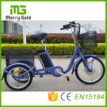 20 inch cargo 3 wheel electric tricycle with pedal /tricycle cart/shoppig cart