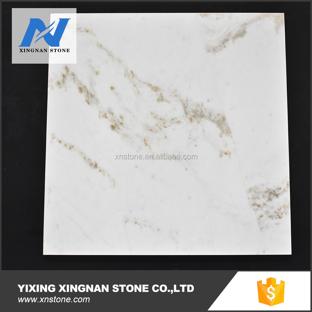 China snow white marble floor tile