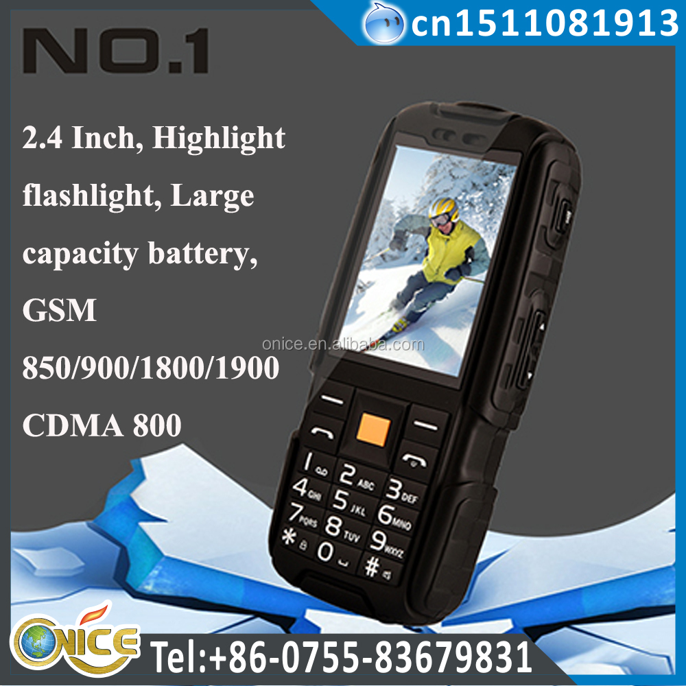 A9 g four mobile phone rugged feature 2.4 inch shockproof cell phone dual mode cdma gsm big battery 3800 mah