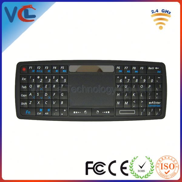 Multifunction VMK-13 2.4g mini wireless keyboard with touchpad