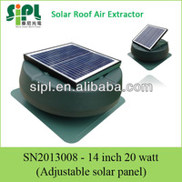 14 inch DC motor industrial solar attic ventilation fan