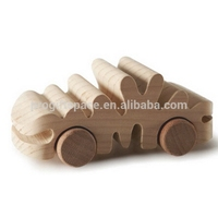 2018 new unique hot China kids toy gift craft wholesale custom decorative children small race ornament make handmade wooden cars
