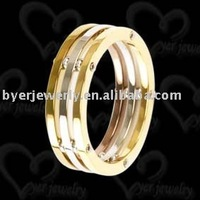 stainless steel ring shank nails plating gold jewelry