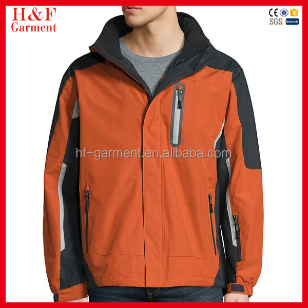 High quality fuzhou no brand 100% polyester mens raincoat with hood
