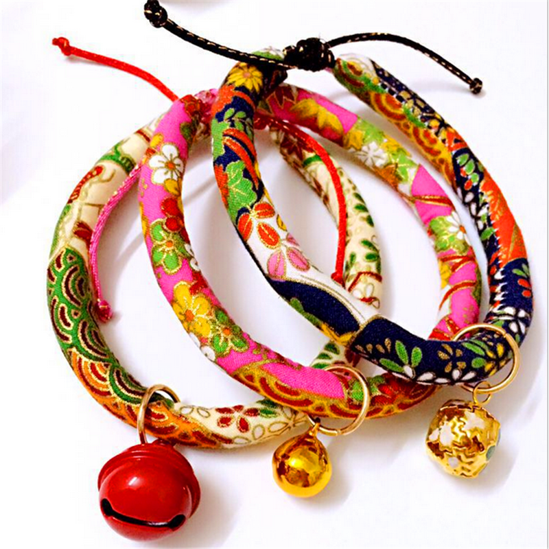 Colorful Fashion Custon DIY Handmade Dog Leash Pet Collar with Bells for Small Animals