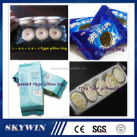Low Cost Price Pillow Bag Small Protein Chocolate Bars Candy Food Horizontal Flow Packing Machine Price