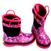 2015 Fashion Girls printed Red Neoprene boots with handle