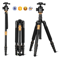 Q666 62'' 15KG Load Fluid Ball Head Digital DSLR Video Camera Monopod 13'' Fold Portable Aluminum Photo Professional Tripod