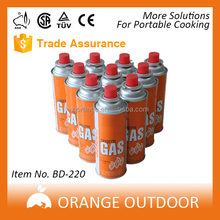 4 Cans Butane Gas Cartridges Portable Fuel Cylinder Cooker Camping Hiking Picnic