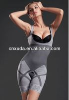 Bamboo Charcoal Seamless Slimming BodySuit Body Shaper Tummy Basque Corset S M L