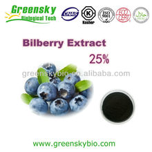 GMP Certified Manufacturer Supply Blueberry Extract 25% Anthocyanidin Bilberry extract 100% Natural
