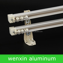 Plastic Ring Double Rail White Ceiling Mount Brackes Hospital Ceiling Curtain Track
