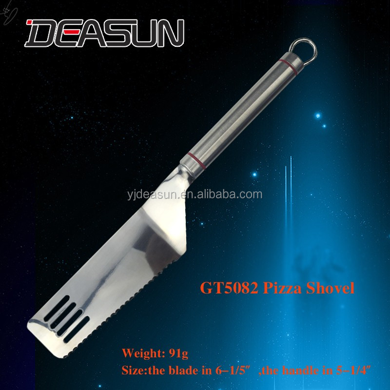 GT5082 Hot design stainless steel handle kitchen cake pizza shovel